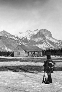 Jasper House. A Hudson's Bay Company trading post situated near the confluence of the Snake Indian and Athabasca rivers, 1872.