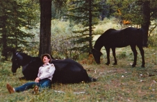 An early evening nap with the horses after a long day in the backcountry.